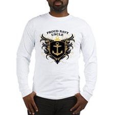 Proud Navy Uncle Long Sleeve T-Shirt