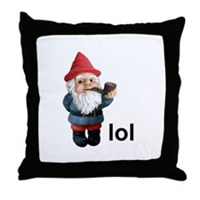 Lol Gnome Throw Pillow