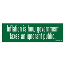 Inflation Tax Bumper Sticker (50 pk)