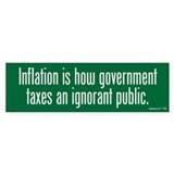 Inflation Tax Bumper Sticker (10 pk)
