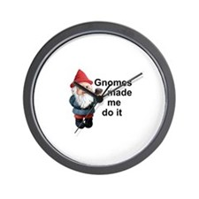 Gnomes made me do it Wall Clock
