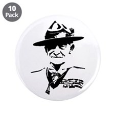 "3.5"" Button (10 pack) of Baden Powell"