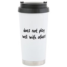 Does Not Play Ceramic Travel Mug