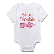 Unique Twin girls Infant Bodysuit