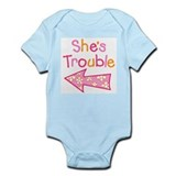 Unique Twin girls Onesie