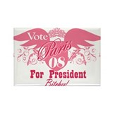 Vote Paris for President Rectangle Magnet (100 pac