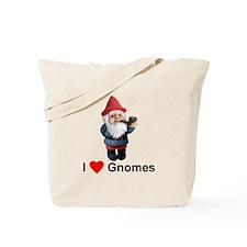 I Love Gnomes Tote Bag