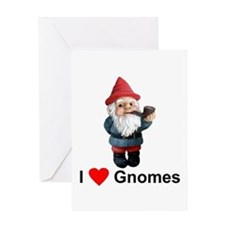 I Love Gnomes Greeting Card
