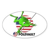 polevault Oval Decal