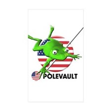 polevault Rectangle Sticker 50 pk)