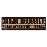 Conceal &amp; Carry Bumper Sticker (50 pk)