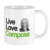Bach's Live Love Compose Mug