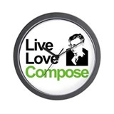 Shosti's Live Love Compose Wall Clock