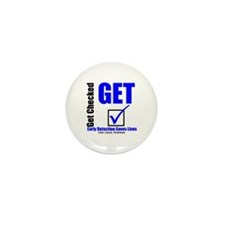 Colon Cancer Get Checked Mini Button (10 pack)