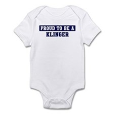 Proud to be Klinger Infant Bodysuit