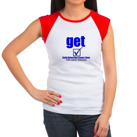 Colon Cancer Get Checked Women's Cap Sleeve T-Shir