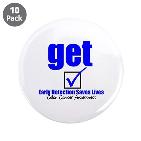 Colon Cancer Get Checked 3.5&amp;quot; Button (10 pack)