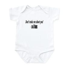 Don't Make Me Shoot You (Camera) Infant Bodysuit