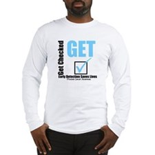 Get Checked Prostate Cancer Long Sleeve T-Shirt
