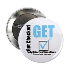 "Get Checked Prostate Cancer 2.25"" Button (10 pack)"