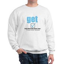 Get Checked Prostate Cancer Sweatshirt
