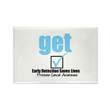 Get Checked Prostate Cancer Rectangle Magnet