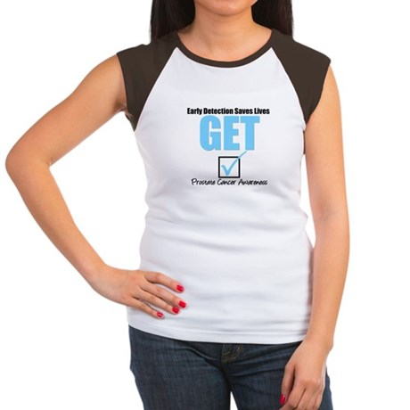Get Checked Prostate Cancer Women's Cap Sleeve T-S