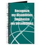 Disability Awareness Motivational Journal Notebook