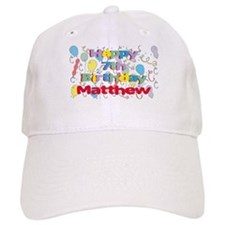 Matthew's 7th Birthday Baseball Cap