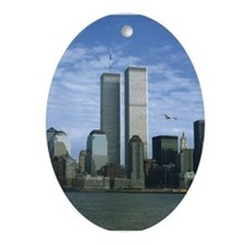 Twin Towers Oval Ornament