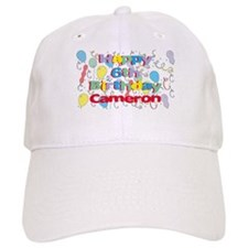 Cameron's 6th Birthday Baseball Cap