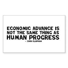 Quote - Clapham - Human Progress Decal