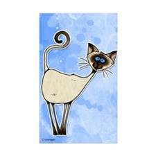 siamese Rectangle Sticker 10 pk)