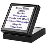 Social Work Values Keepsake Box