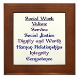 Social Work Values Framed Tile