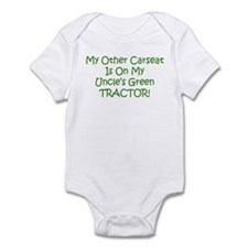 Carseat Uncles Green Tractor Onesie