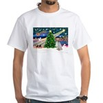 XmasMagic/English Setter White T-Shirt