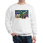 XmasMagic/2 Dobies (P3) Sweatshirt