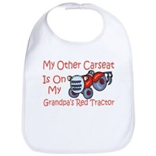 Carseat Grandpas Red Tractor Bib