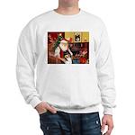 Santa's Collie (t) Sweatshirt