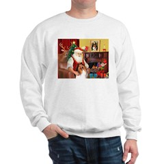 Santa's Collie Sweatshirt