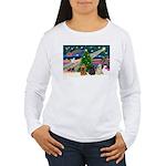 XmasMagic/3 Cockers Women's Long Sleeve T-Shirt