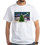 Xmas Magic & Coton De Tulear White T-Shirt