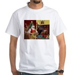 Santa's Chow Chow White T-Shirt