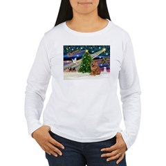 Xmas Magic & Chow Women's Long Sleeve T-Shirt