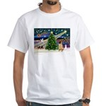 Christmas Magic & Shar Pei #2 White T-Shirt