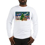 Xmas Magic & Airedale pair Long Sleeve T-Shirt