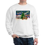 Xmas Magic & Airedale pair Sweatshirt