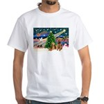 Xmas Magic & Airedale pair White T-Shirt