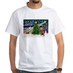xmas magic & Airdale (14) White T-Shirt